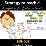 READING & WRITING STRATEGY: Teacher & Student Sentence Sentence Frames BUNDLE