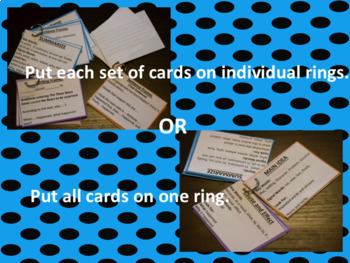 Sentence Frames Set of Teacher Task Cards with Prompts - Reading Strategies -