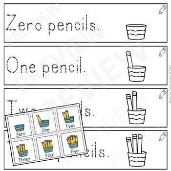 Sentence Frames*Sentence Starters Differentiated-Pencil Count Number Words 0-10