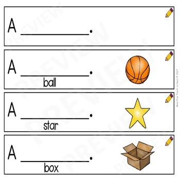 Sentence Frames*Sentence Starters Differentiated- Sight Word Set: A