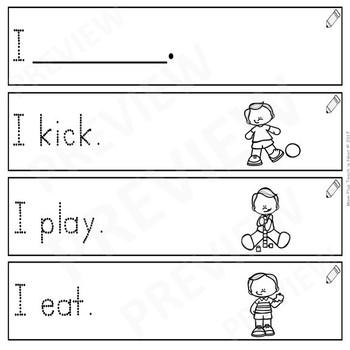 Sentence Frames*Sentence Starters Differentiated- Sight Word Set: I