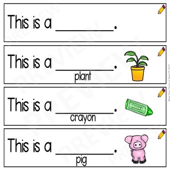 Sentence Frames*Sentence Starters Differentiated- Sight Word Set: This