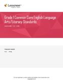 Sentence Frames, Vocabulary, and More for 1st Grade ELA Writing Standards