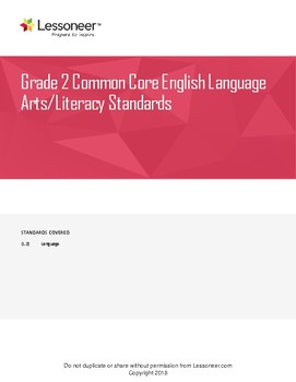 Sentence Frames, Vocabulary, and More for 2nd Grade ELA Language Standards