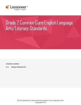 Sentence Frames, Vocab, & More for 2nd ELA Reading: Informational Text Standards