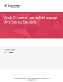 Sentence Frames, Vocabulary, and More for 3rd Grade ELA Language Standards