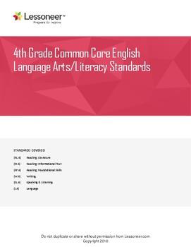 Sentence Frames, Vocabulary, and More for 4th Grade ELA - All Standards