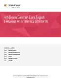 Sentence Frames, Vocabulary, and More for 4th Grade ELA -