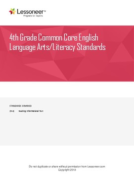 Sentence Frames, Vocabulary, and More for 4th Grade ELA RI Standards