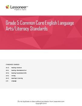 Sentence Frames, Vocabulary, and More for 5th Grade ELA - All Standards