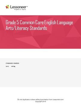 Sentence Frames, Vocabulary, and More for 5th Grade ELA Writing Standards