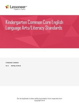 Sentence Frames, Vocab, and More for Grade K ELA Reading: Literature Standards