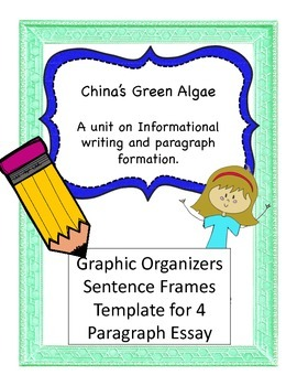 Sentence Frames and Scaffolding for 4 paragraph informational essay