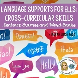 Sentence Frames & Word Bank Table Tents: Cross-Curricular ELL Language Supports