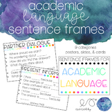Sentence Frames for Academic Language - Slides, Posters, & Cards