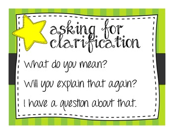 Sentence Frames for Classroom Discussion