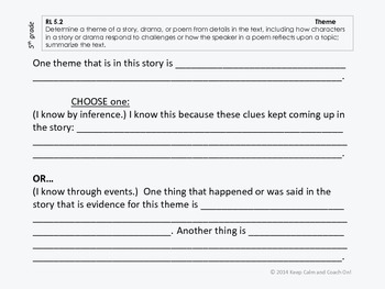 Sentence Frames for Difficult Common Core Literature Standards Bundle, gds 2-5