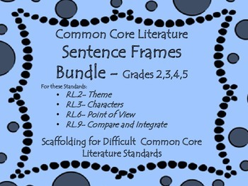 Sentence Frames for Difficult Common Core Literature Stand