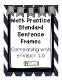 Sentence Frames for Math Practice Standards - Correlating with enVision 2.0