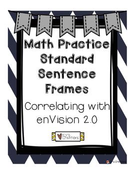 Sentence Frames for Math Practice Standards - Correlating