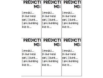 Sentence Frames for Reading Strategies.