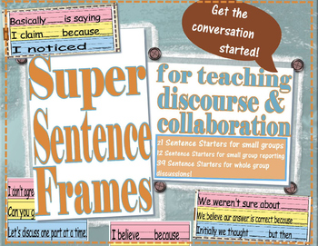 Sentence Frames for Teaching Discourse & Collaboration - Academic Language