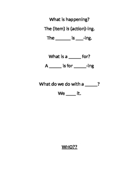 Sentence Frames for Teaching WH-Questions