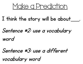 Sentence Frames for the Reads Naturally Program