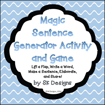 "Simple Sentence Fun: ""Magic"" Sentence Generator for Elaboration Practice"