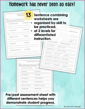 Combining Sentences Activities and Games for Compound and Complex Sentences