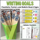 Writing Goals Checklist and Sentence Helpers