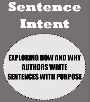 Sentence Intent Complete Unit: Activities, Handouts and Lesson plans