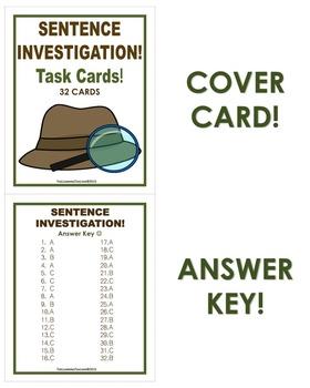 Sentence Investigation Task Cards!