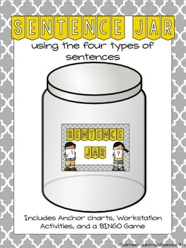 Sentence Jar: Activities Using the Four Types of Sentence (EDITABLE)