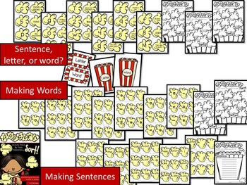 Sentence, Letter, or Word? {Popcorn Sort!}