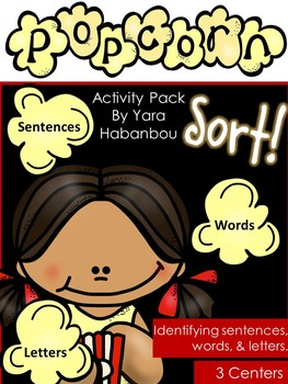 Sentence, Letter, or Word? {Popcorn Sort!}