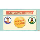 Sentence Lingo Presentation and Escape Room Activity (basi