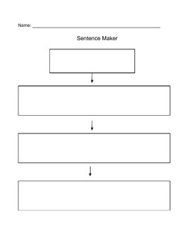 Sentence Maker Graphic Organizer