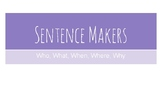 Sentence Makers - For reluctant writers