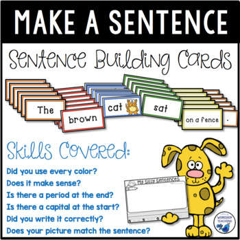 Color Coded Sentence Making Cards Kit By Whimsy Workshop Teaching