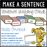 Sentence Making Cards Kit (Over 100 cards) Build, Print &
