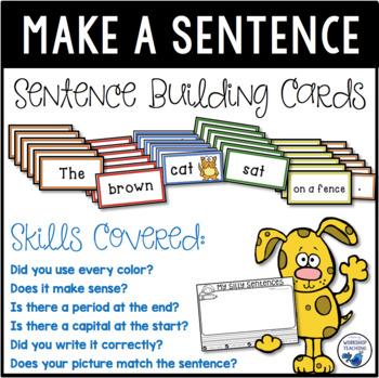 Sentence Making Cards Kit (Over 100 cards) Build, Print &