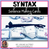 Sentence Making Cards for Speech Therapy and Special Educa