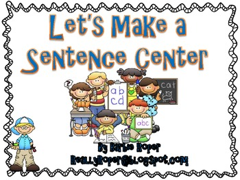 Sentence Making Center {At Home Learning}