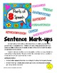 Sentence Mark-ups for Mastering the 8 Parts of Speech