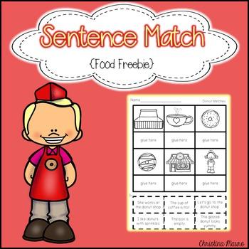 Sentence Match {Food Freebie}