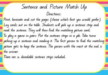Sentence Match Up