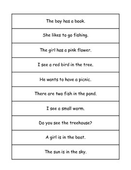 Sentence Match or Create a Story