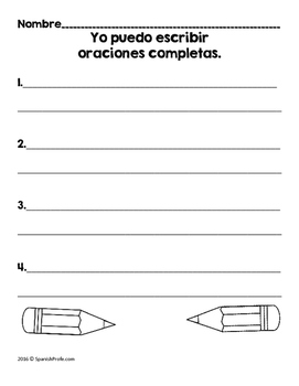 Sentence Matching Center in Spanish (Centros de emparejar oraciones con fotos)