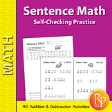 Sentence Math: Fun, Self-Checking Addition & Subtraction Practice